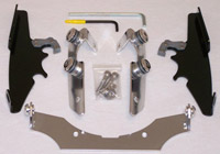 Memphis Shades Black Trigger-Lock Mount Kit for Batwing Fairing