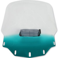Memphis Shades Tall Vented Gradient Teal Windshield