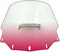 Memphis Shades Tall Vented Gradient Ruby Windshield