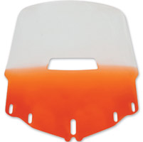 Memphis Shades Tall Vented Gradient Orange Windshield
