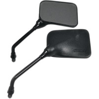 EMGO Matte Black Universal Mirror Set