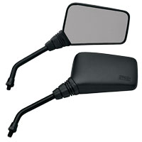 EMGO Black Universal Mirror Set