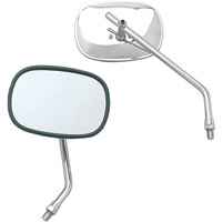 EMGO Chrome Rectangular Universal Left Mirror