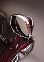 Show Chrome Accessories  Visored Mirror Trim