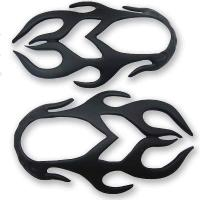 American Cycle Accessories Flame Mirror Covers