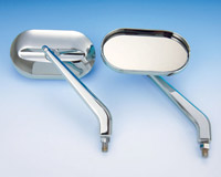Show Chrome Accessories Oval Mirrors 10mm Reverse Mount