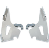 Memphis Shades Fats/Slims/Batwing Fairing Polished Mounting Plates Only