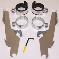 Memphis Shades Fats/Slims Polished Windshield Mounting Kit