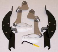 Memphis Shades Batwing Fairing Black Trigger Lock Mount Kit