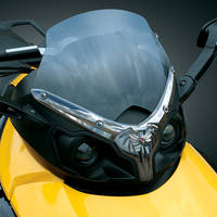 Kuryakyn Premier Widow Windshield Trim with Emblem for Can-Am Spyder