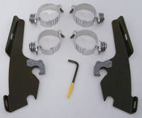 Memphis Shades Batwing Fairing Black Trigger-Lock Mount Kit