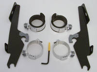 Memphis Shades Batwing Fairing Black Trigger Lock Mount Kit