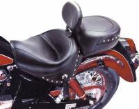 Mustang 2-piece Wide Studded Touring Seat with Driver Backrest