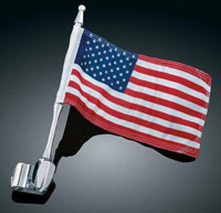 Kuryakyn Antenna Flag Mount with Flag for GL1800