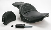 Saddlemen Studded Explorer Special Seat with Driver Backrest