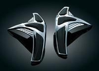 Kuryakyn Chrome Saddlebag Front Scuff Protectors for GL1800 Gold Wing