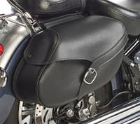 Willie & Max Revolution Series Belted Large Hard Mount Saddlebags