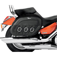 Saddlemen Drifter Rigid-Mount Specific-Fit Quick-Disconnect Saddlebags for VL800/C50