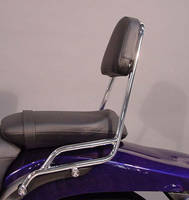 MC Enterprises Chrome Sissy Bar with Plain Pad