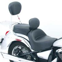 Mustang One-Piece Wide Vintage Touring Seat with Driver Backrest