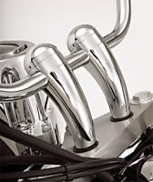 Show Chrome Accessories 4″ Round Handlebar Risers