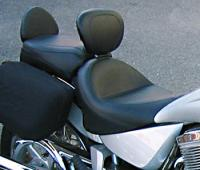 Mustang 2-piece Wide Vintage Touring Seat with Driver Backrest