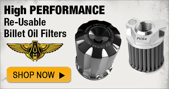 Arlen Ness High Performance Re-Usable Billet Oil Filters