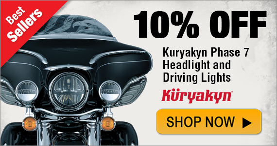 Best Selling Product – Kuryakyn Phase 7 Headlight & Driving Lights