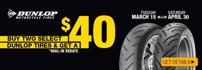 Dunlop $40 rebate