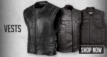 Leather Motorcycle Vests. Shop Now