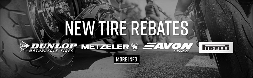 Tire Rebates from Dunlop, Metzeler, Pirelli & Avon