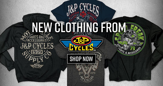 Shop New J&P Cycles Motorcycle Clothing Now!