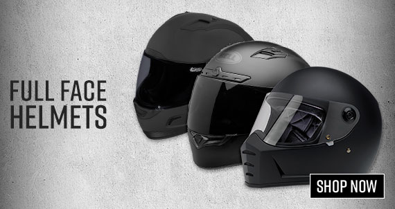 Shop Motorcycle Full Face Helmets Now!