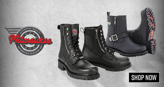 Shop Milwaukee Motorcycle Boots Now!
