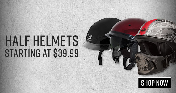 Shop Motocycle Half Helmets Now!