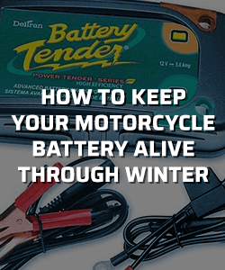 How to keep your motorcycle battery alive through winter