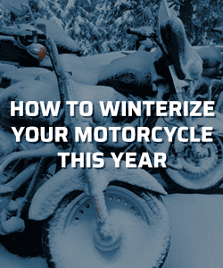 How to winterize your motorcycle this year