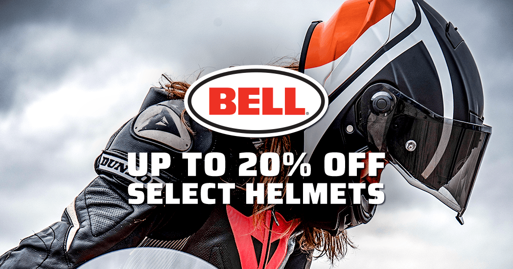 Get 20% off Select Bell Helmets!