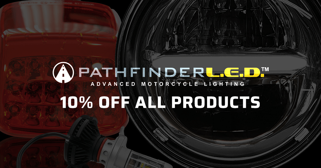 Pathfinder LED Advanced Motorcycle Lighting: 10% Off All Products