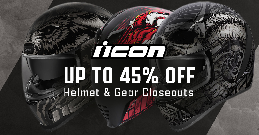 Save up to 45% on ICON Helmets and Gear!