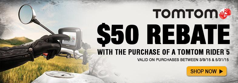 $50 Tom Tom Rebate!