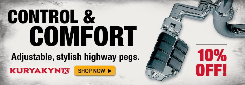 Shop Kuryakyn Foot Pegs
