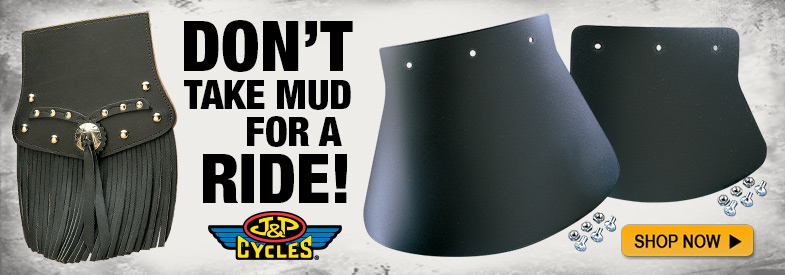 Shop J&P Cycles Mud Flaps!