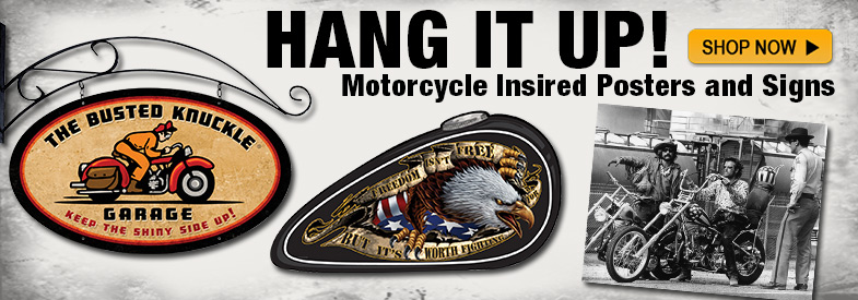 Shop Motorcycle Inspired Posters and Signs!