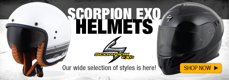 Shop New Scoprion EXO Helmets