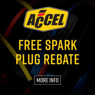 Accel Free Sparkplug Rebate