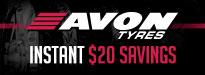 Up To $40 Instant Savings In Avon Trekrider Tires
