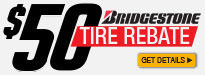 Bridgestone Buy Two Get $50