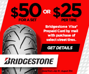 Bridgestone Motorcycle Tire Rebate