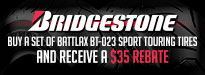 Bridgestone $35 Rebates - Battlax BT-023 Sport Touring